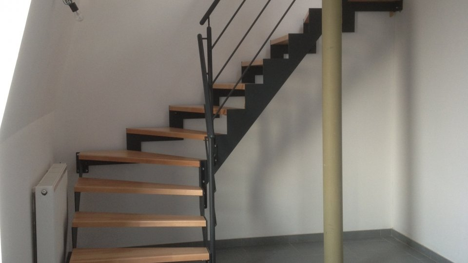 Escalier hêtre huilé